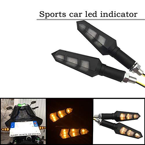 Justech 4 pcs Mini LED Clignotants Universel /Étanche 3528 Lampe Perles Indicateur Ambre Lumi/ères Pour Moto Bicyclette