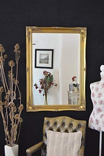 Frames by Post Rich Gold extra groß Shabby Chic Antiker Spiegel-76,2x 106,7cm Gesamtgröße (75x 105cm)-TV Show-besten Preis für Amazon-nur erhältlich von Shabby Chic Spiegel - Schwarz Cheval Spiegel