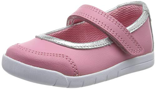 Clarks Emery Halo T, Bailarinas para Niñas, Rosa Pink Leather Pink Leather, 24 EU