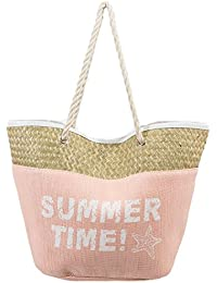 "1 Beach Bag For Women To Take Beach Stuff For Daily Usage. Enjoy This Large Beautiful Tote Bag 20""x15""x8 - Pink"