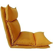 Rebecca Mobili Chaise De Meditation Siege Sol Metal Polyester Pliable Salon Terrasse Balcon Cod