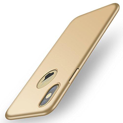 BSAMZ Cover iPhone X, copertura posteriore protettiva ultra sottile con custodia protettiva di protezione ultra leggera e antigraffio per iPhone X.(Rosso) Oro