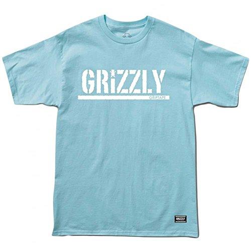 Grizzly Griptape - Maglietta sportiva - Maniche corte  -  uomo Powder Blue