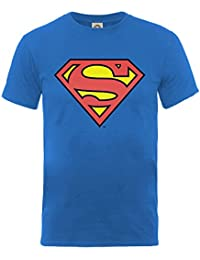 Superman Logo Classic Official DC Comics Man of Steel Kids Boys Blue T-Shirt