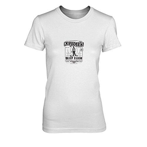 Krueger's Sleep Elixir - Damen T-Shirt, Größe: XL, Farbe: weiß
