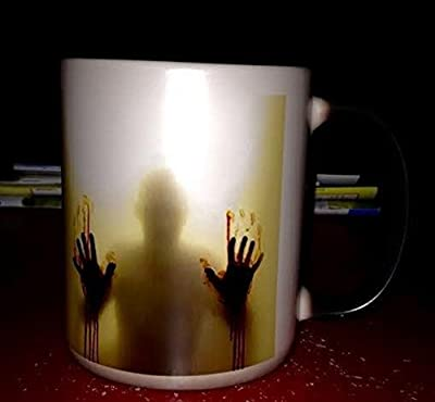 The Walking Dead - Dead Inside Magic Morphing Mug - Add hot water for image to appear from black mug - Ideal Christmas/Anniversary/Novelty Gift from Lingstar