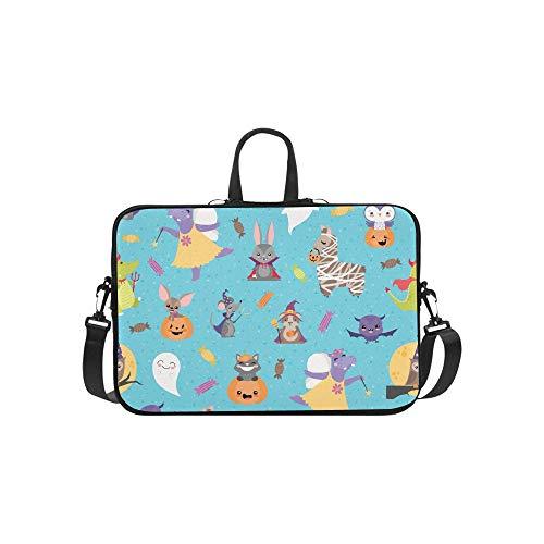 Muster Fee Kostüm - Niedliche Nilpferd Mit Tiere Muster Aktentasche Laptoptasche Messenger Schulter Arbeitstasche Crossbody Handtasche Für Geschäftsreisen