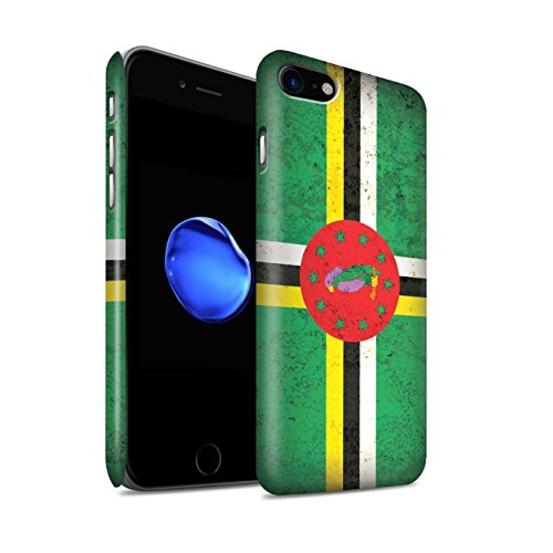 STUFF4 Matte Snap-On Hülle / Case für Apple iPhone 7 Plus / Dominikanische Republik Muster / Amerika Flagge Kollektion Dominica/Dominikanische