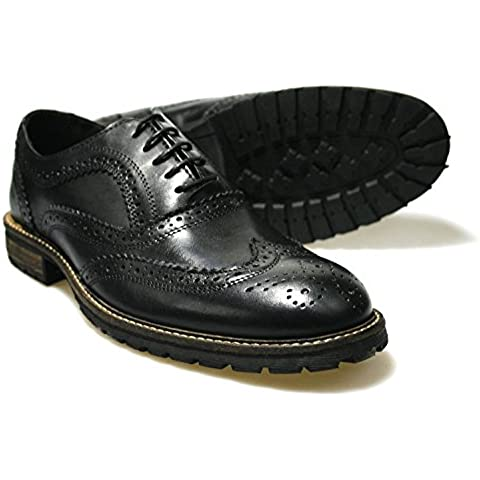Red Tape Feale - Zapatos de cordones de Piel para hombre Marrón marrón