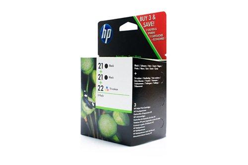 Original Tinte passend für HP DeskJet F 4100 Series HP 21+21+22 SD400AE...