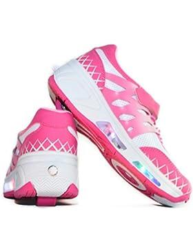 Envio 24H Usay like Zapatillas Con Ruedas Color Rosa White Para Niña Chica Talla 30 hasta 38 Envio Desde España