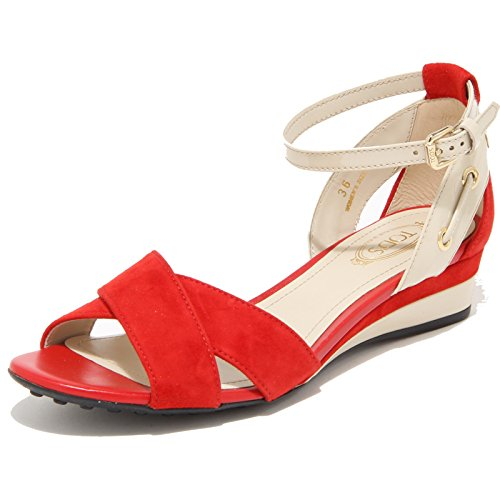 55650 sandalo TOD'S ZEPPA FASCE INCR. CINT. scarpa donna shoes women Rosso