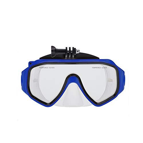 NinJaSun Outdoor-Sport-Kamera wasserdichtes Gehäuse, Taucherbrille Taucherbrille für gopro,Blue