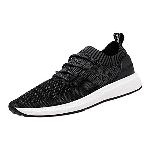 HROIJSL Männer gewebte atmungsaktive Turnschuhe Mode Größe Freizeitschuhe Laufschuhe Gewebte Herren-Sneakers große Sk Sneaker Low-Top Runner Platform Ribbon P Mesh Outdoor Shoes