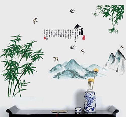 QTXINGMU Mangosteen Tuschemalerei Abnehmbare Wand Aufkleber Wohnzimmer Schlafzimmer Kinderzimmer Terrasse Dekorative Aufkleber - Terrasse Sonnenuntergang