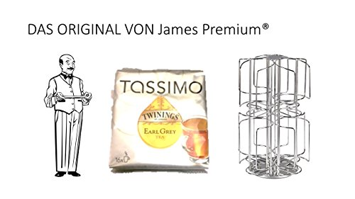 Tassimo Kapselhalter für 64 Kapseln Größter Kapselhalter auf dem Markt geschütztes Design + Tee Twinings Earl Grey