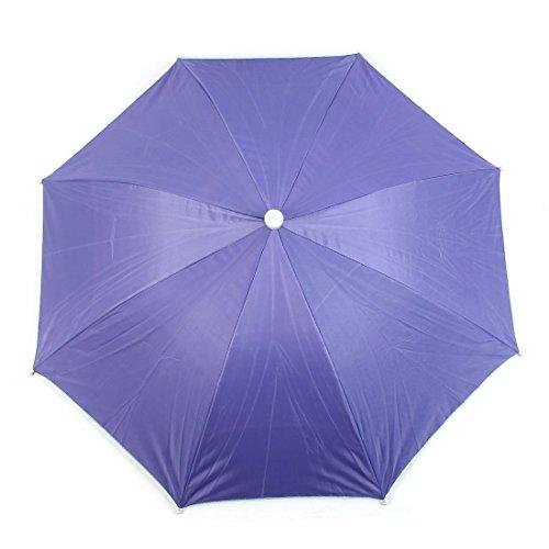 Lila Selbstriegel-Bügel aus Metall Rib Outdoor Angeln Regenschirm-Hut-Kappe