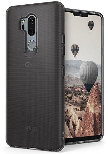 Ringke LG G7 Hülle, LG G7 ThinQ Schutzhülle, [Air] Schwerelos wie Luft, Extrem Leichte Transparente Schwarz Silikon Flexibel Dünn TPU Cover Kratzfeste Panzer Handyhülle für LG G 7 Case - Smoke Black