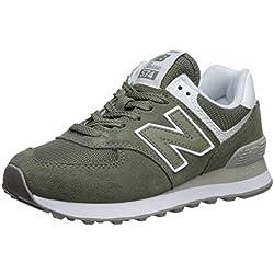 New Balance 574v2, Zapatillas para Mujer, Verde (Mineral Green/White Esa), 39 EU
