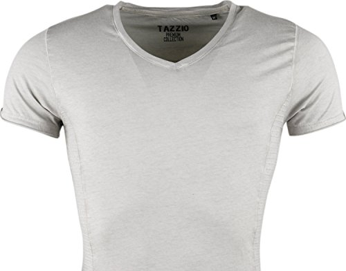 Tazzio Herren Polo Hemd Poloshirt Shirt Kurzarm Grau Grey