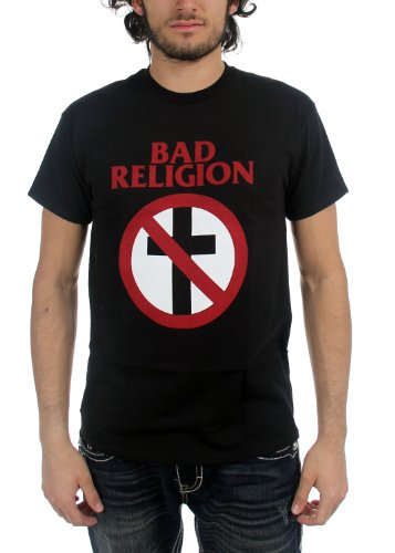 Bad Religion - Mens Classic Crossbuster T-Shirt, Size: Large, Color: Black