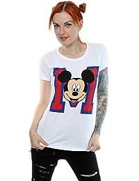 Disney Damen Mickey Mouse M Face T-Shirt XX-Large Weiß