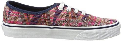 Vans Authentic, Sneakers Basses Mixte Adulte Rose (Woven Chevron - Pink/True White)