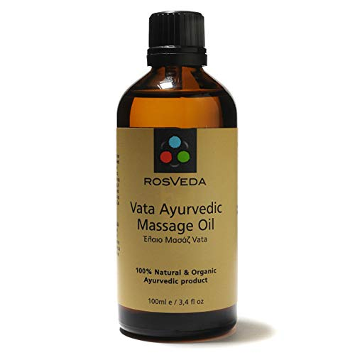 Rosveda Vata Ayurvedic Massage Oil - 100ml - 100{01b594a5592e49f45154faaa97814c515d2cbac28d68c8c3aeefe6c493cc9cf6} Natural basierend auf Ayurveda