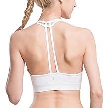 AIYIHAN Sujetador deportivo para Mujer,Sujetador T-Back con doble forro de yoga