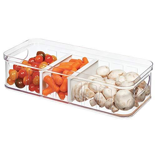 iDesign Kühlschrankbox (37,6 x 16 x 9,6 cm), großer Aufbewahrungsbehälter aus BPA-freiem Kunststoff, Aufbewahrungssystem für Küche oder Kühlschrank, durchsichtig