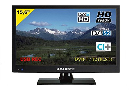 Tv Led 16 Majestic TVD215S2MP08 HD DVBT/T2/S/S2/C HDMI nero [TVD215S2MP08]