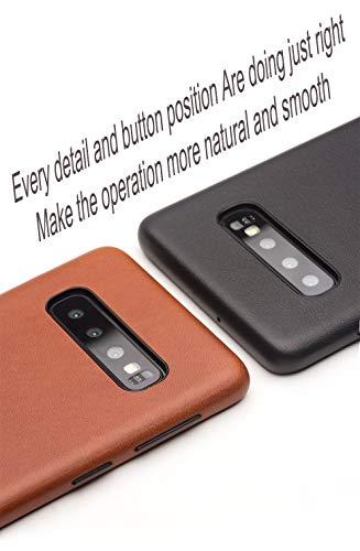 COVO® Coque Samsung Galaxy S10 Plus,Coque arrière pour Affaires Classique,Fait à la Main Etui Premium en Cuir de Vache Coques arrière pour S... 7