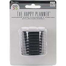 Create 365 Planner Expander Rings 9/Pkg-Black