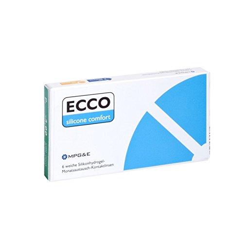 ECCO Silicone Comfort Monatslinsen weich, 6 Stück / BC 8.60 mm / DIA 14.20 mm / -2.25 Dioptrien