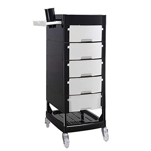 7-Schicht-Multifunktions-Mobile Tool Cart Mit 5 Schubladen Transparent Mute Universal Riemenscheibe Friseursalon FußBad Shop Beauty-Salon (Farbe - Lila Weiß)
