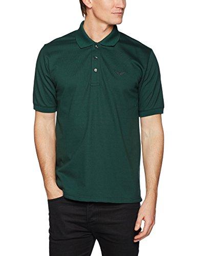 Trigema Herren Poloshirt Polo-Shirt Piqué-Qualität, Grün (Tanne 053), Large (Herren Gestickte Polo-shirt Pique)