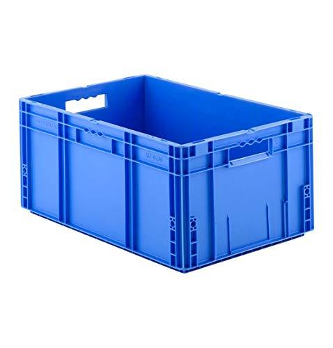 Eurokiste Kunststoffbox Transportbox offen ohne Deckel, 600x400 mm, 52 l, 30 Kg Tragkraft, Made in Germany, Blau ()