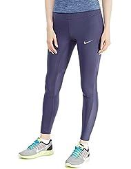 Nike Damen W NK Power Racer Lauf Tights, Donnerblau, M