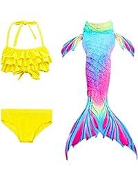 Le SSara 2018 Nuevo Sea-Criada Cosplay Swimwear Mermaid Shell Swimsuit 3pcs Bikini Sets