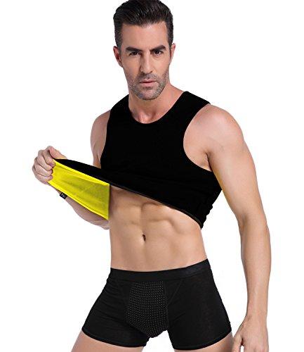 NINGMI Training Weste Gewichtsverlust Shapewear Unterhemd Sauna Neopren Sport Shapers Hemd Abnehmen Unterhemd Männer