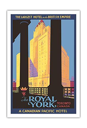 Pacifica Island Art - Royal York Hotel - Toronto, Ontario - Canadian Pacific Hotel - Retro Weltreise Plakat von Norman Fraser c.1946 - Kunstdruck 76 x 112 cm - Canadian Pacific Hotel