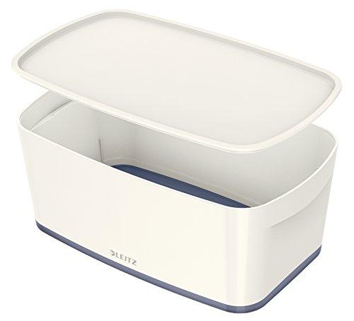 Leitz MyBox, Aufbewahrungsbox mit Deckel, Klein, Blickdicht, Weiß, Kunststoff, 52294001 -