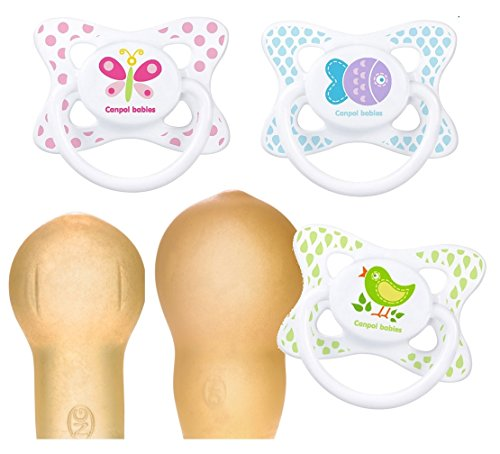Canpol babies Beruhigungssauger Summertime Latex Kirschform Rund 3 St. (6 - 18 Monate)