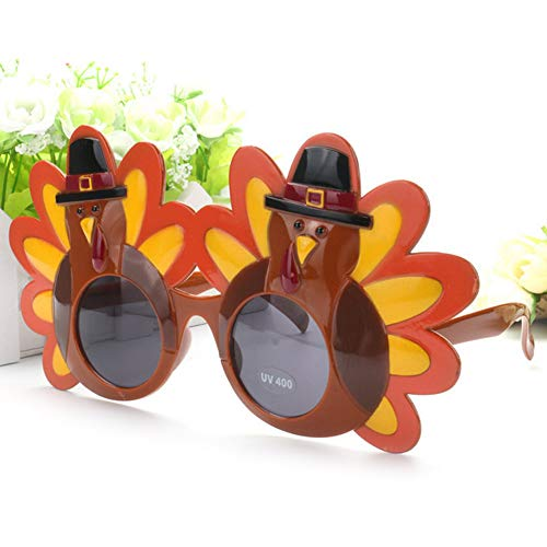 mAjglgE Lustige Cartoon Mr Turkey Sonnenbrille Thanksgiving Day Eyewear Party Kostüm Requisite