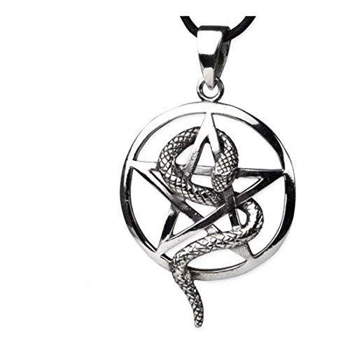 Pentagrama druden Soporte Gótico Colgante Amuleto Magia Wicca Pentagram de bruja