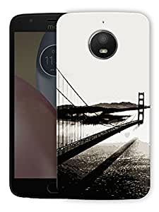 "Humor Gang Bridge Monochrome Printed Designer Mobile Back Cover For ""Motorola Moto E4 Plus"" (3D, Matte Finish, Premium Quality, Protective Snap On Slim Hard Phone Case, Multi Color)"
