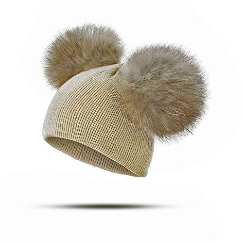 QHLJX Mode Baby Hut, Gestrickte Wolle Baby Hut, Warme Winter Niedlichen Hut, Unisex, Geeignet FüR Freizeit, Outdoor-AktivitäTen, Geeignet FüR 3 Monate - 4 Jahre Alt