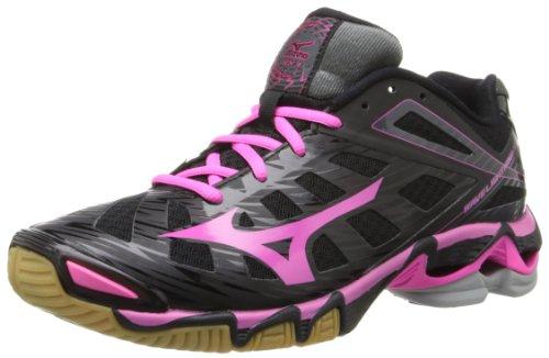 Mizuno Wave Lightning RX3 Synthétique Chaussure de Course Black-Pink-Black