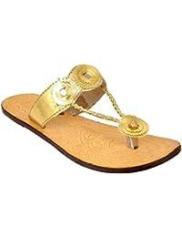 Altek Natural Leather Kohlapuri Slipper For Women (Size : 36 Euro, 6 Ind/Uk) Model: ALTEK_13_218