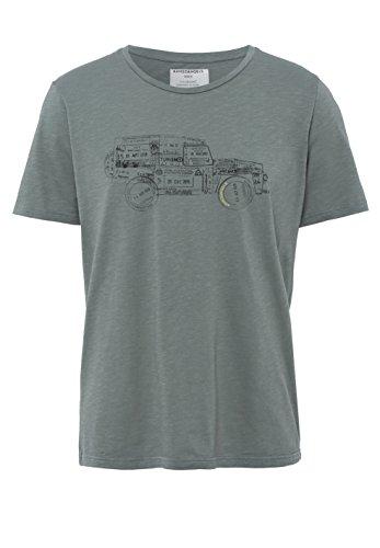 ARMEDANGELS Herren T-Shirt aus Bio-Baumwolle - Dean On Tour - FAIRTRADE, GOTS, ORGANIC, CERES-008 graphite green
